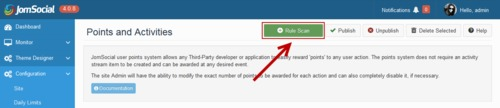 Run the Rule Scan in JomSocial to add the HWDMediaShare rule set